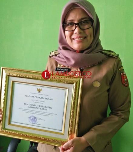 Lampung Barat Terima Penghargaan Pastika Parama