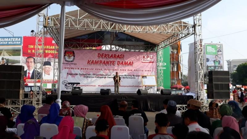 Lampung Deklarasi Kampanye Damai