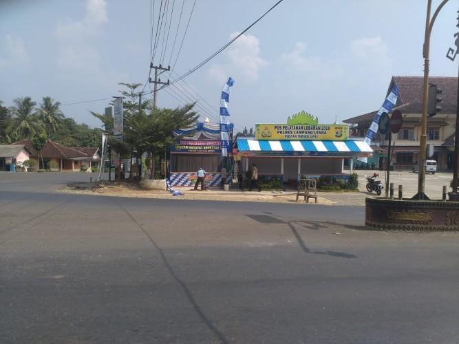 Lima Posko Lebaran Didirikan di Jalinteng  Lampung Utara