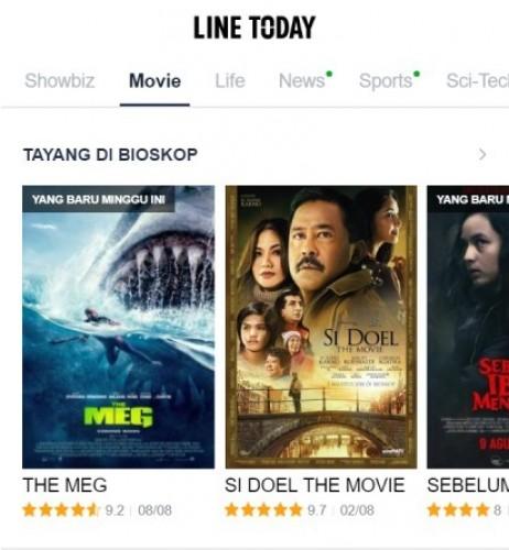 Line Today Movie Hadir untuk Penikmat Film