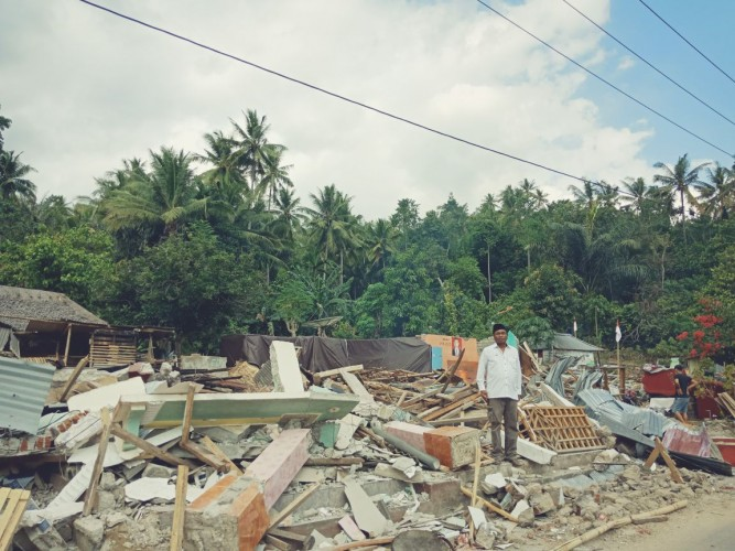 Lombok Diguncang Gempa Lagi, Warga Berlarian Histeris