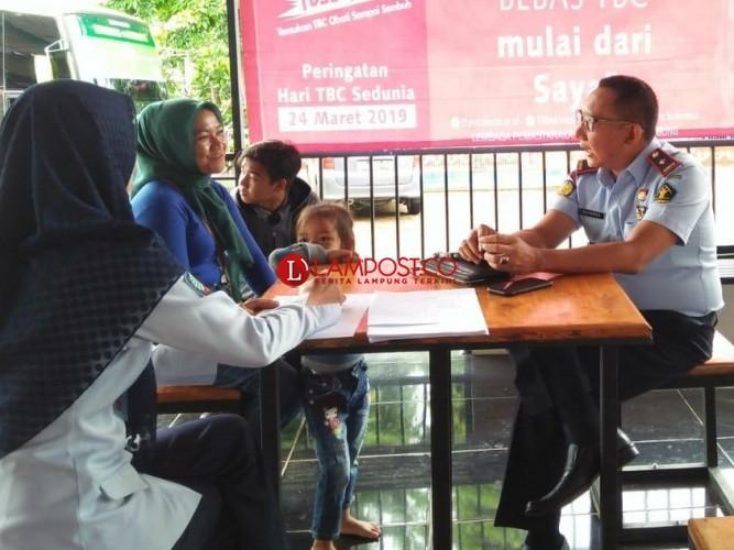 LP Kotaagung Screening TBC Warga Binaan dan Pengunjung