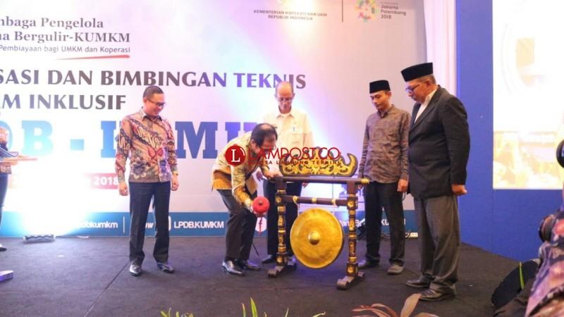LPDB-KUMKM Berharap Lampung Maksimal Serap Dana Bergulir Rp154 M