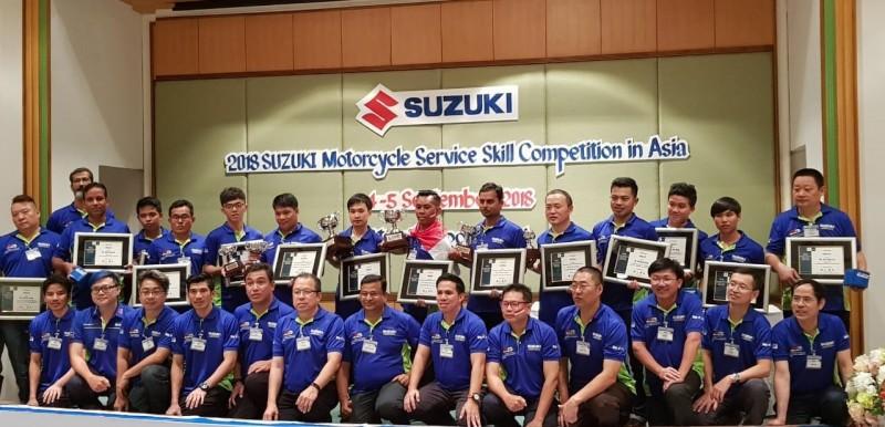 Mekanik Suzuki Indonesia Jadi Juara Kontes Mekanik Motor Se-Asia