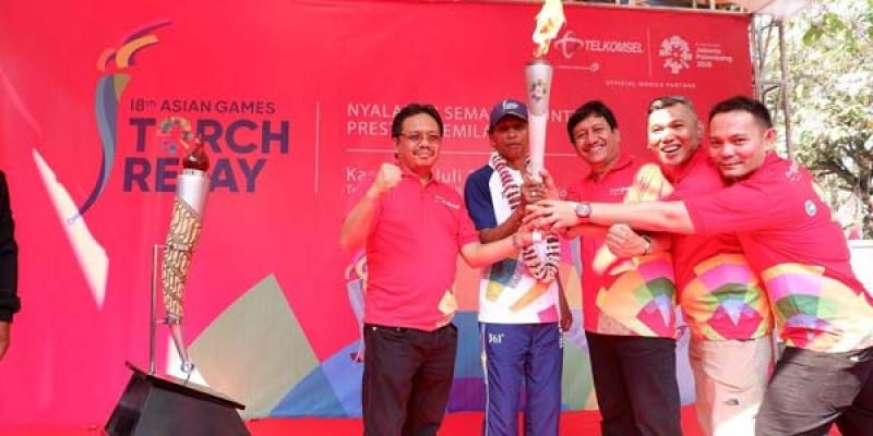 Menteri BUMN Jadi Pembawa Obor Asian Games di Lampung