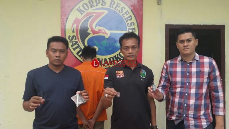 Miliki Sabu, Driver Taksi Online Ditangkap di Lobi HotelGading Rejo