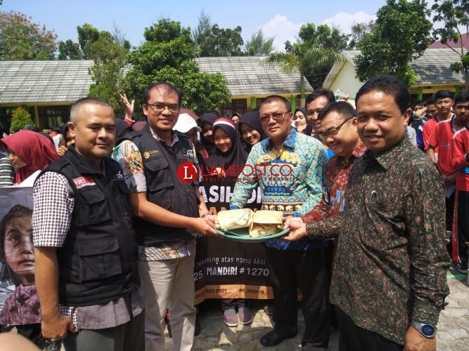 MKKS SMK Bandar Lampung Bantu Korban Gempa Lombok