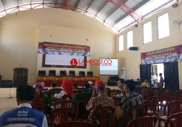 MPAL Pesisir Barat Sosialisasi Pencegahan Konflik SARA