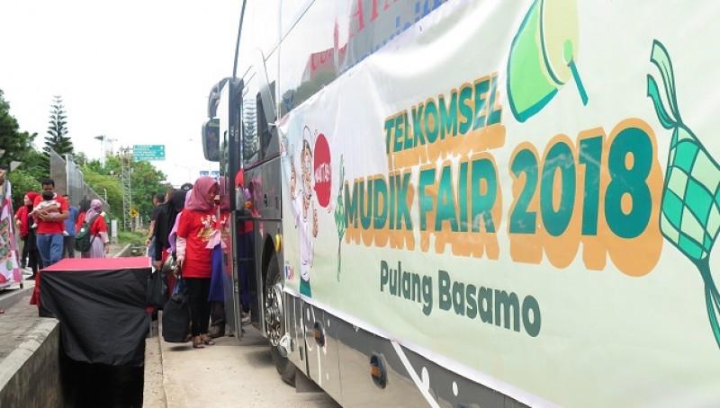 Mudik Fair 2018, Telkomsel Ajak Pelanggan Pulang Basamo