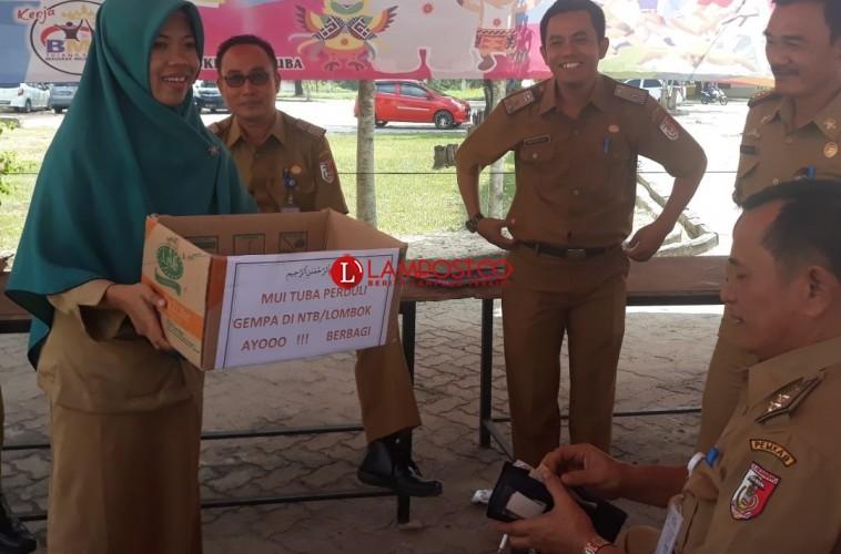MUI Tulangbawang Gelar Penggalangan Dana untuk Korban Gempa Lombok