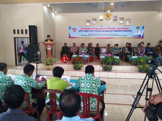 Musrenbang Simpangpematang Fokus Perkuat Pembangunan Infrastruktur