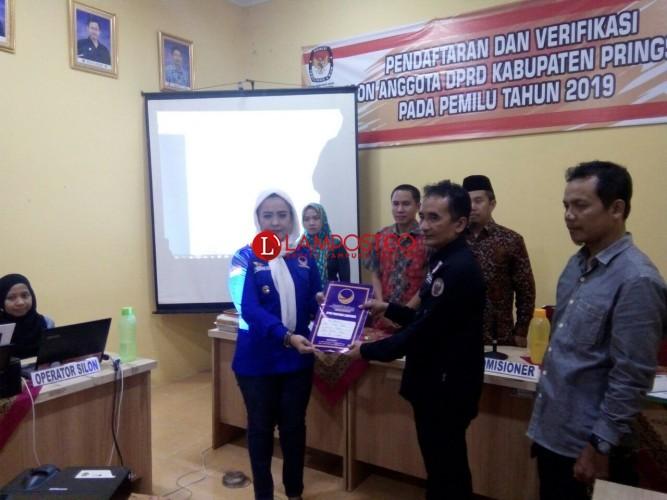 NasDem, Golkar dan PKB Daftarkan Bakal Caleg ke KPU Pringsewu