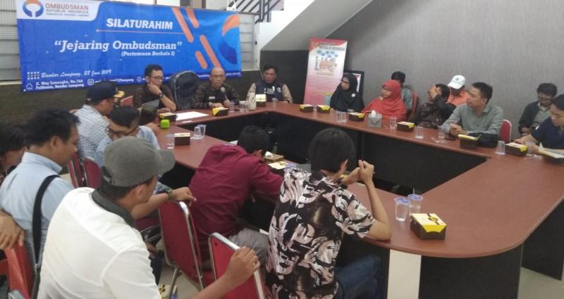 Ombudsman Lampung Gelar Silaturahim Bersama Jejaring