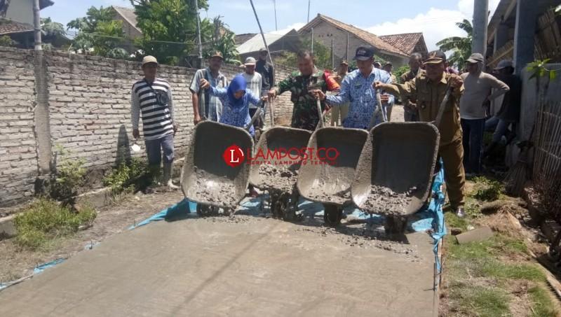 Palas Pasemah Prioritaskan Pembangunan Padat Karya Tunai
