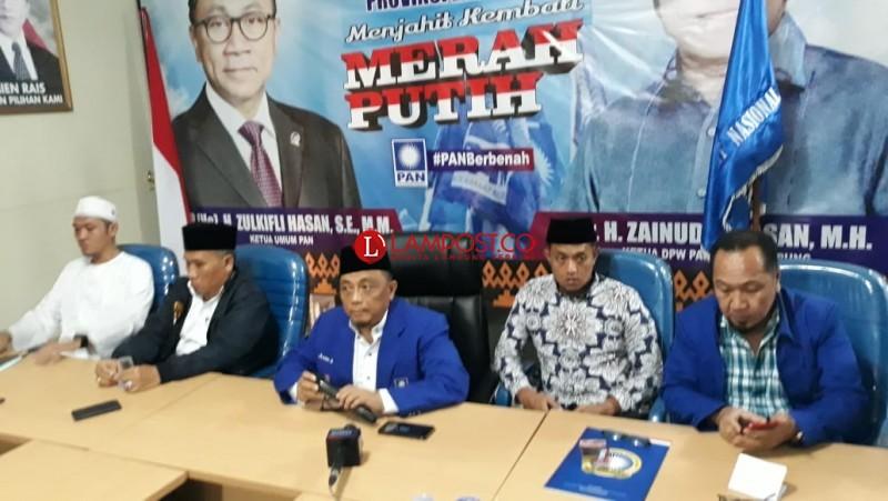 PAN Lampung Kedepankan Asas Praduga Tak Bersalah