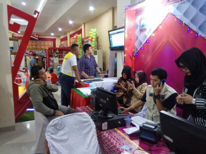Pelayanan Disdukcapil Lamsel di Lampung Fair Diminati Masyarakat