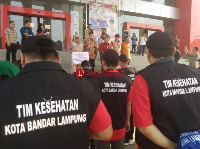 Pemkot Bandar Lampung Lepas 35 Tim Relawan ke Sulteng