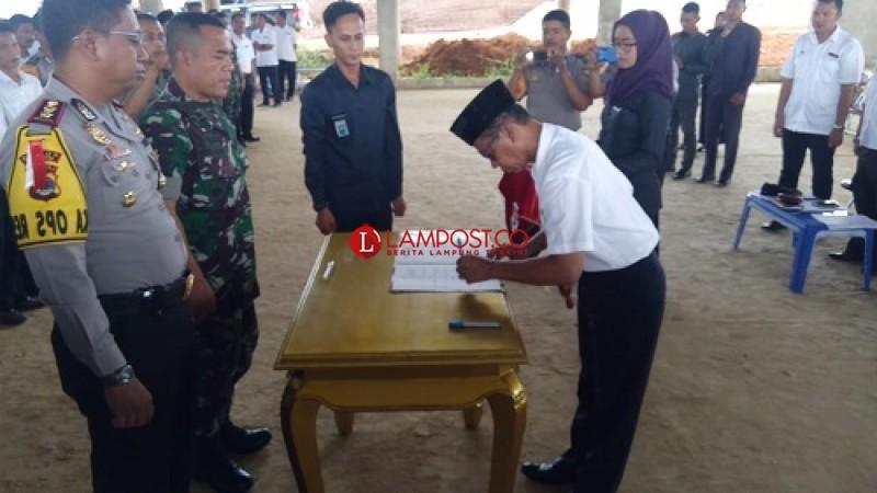 Pemda Mesuji Lakukan MoU Dengan TNI dan Polri