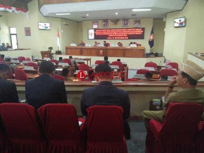 Pemkab Lambar Ajukan APBD Perubahan Defisit Rp26,08 Miliar