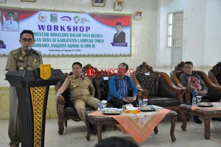 Pemkab Lamtim Gelar Workshop Sistem Tata Kelola Keuangan Desa
