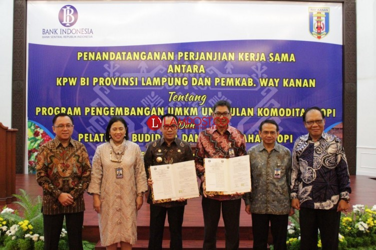 Pemkab Way Kanan MoU Dengan Bank Indonesia Kembangkan UMKM Kopi