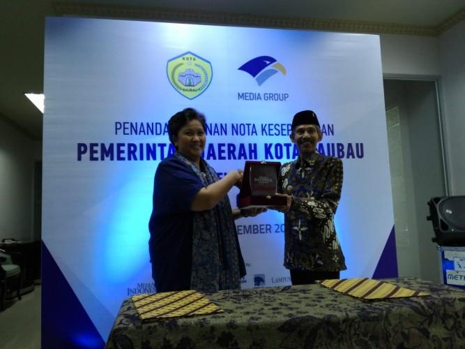 Pemkot Baubau-Media Group Tandatangani MoU