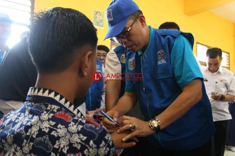 Pencanangan Kampanye Imunisasi MR di Lamtim Dibuka Oleh Wakil Bupati