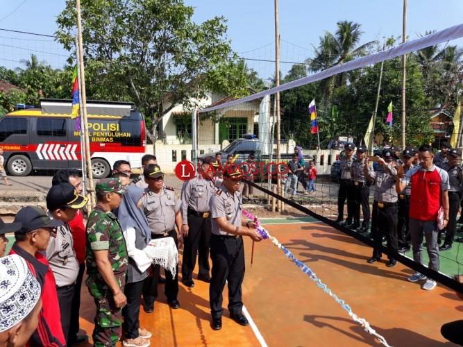 Peringati HUT Bhayangkara, Polres Pesawaran Gelar Lomba Volly Berhadiah Kambing