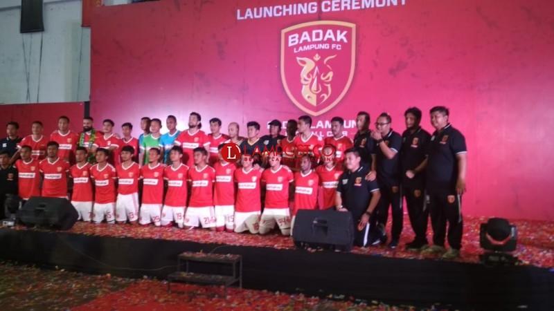 Perkenalkan Skuat, Badak Lampung FC Tak Ingin Jadi Klub Medioker di Liga 1
