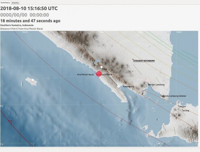Pesisir Barat Dilanda Gempa 2,8 SR