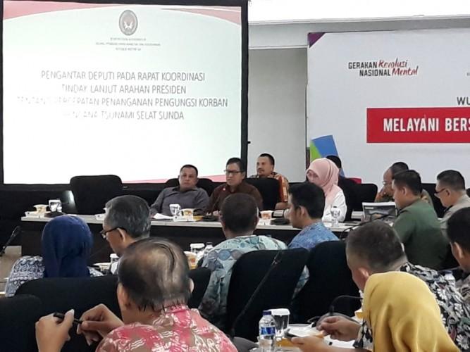Plt Bupati Lamsel Hadiri Rakor Kesiapsiagaan Penanganan Bencana di Selat Sunda