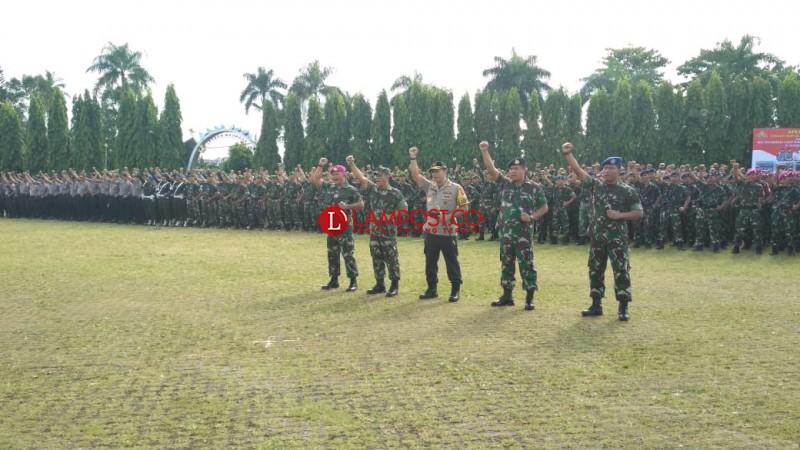 Polda Gelar Pasukan Jelang Pemilu, 63 Ribu Personel Gabungan Diterjunkan
