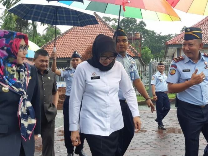 Polres Kawal Kunjungan Dirjen PAS Kemenkumham ke LP Kotaagung