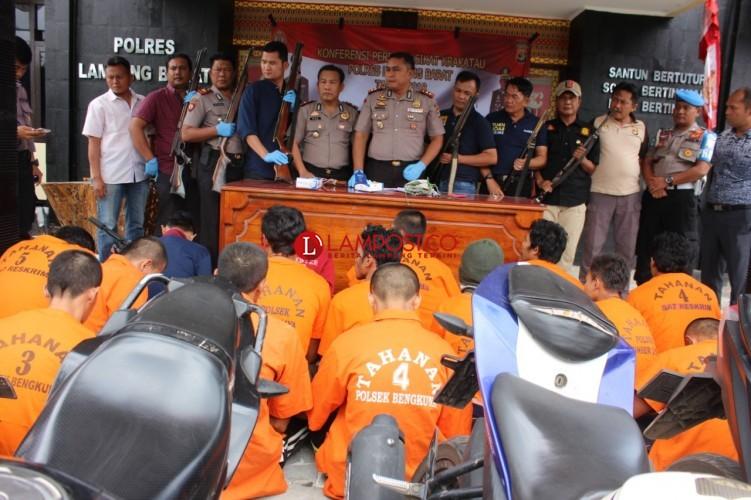 Polres Lambar Amankan 17 Pelaku Kejahatan Selama Operasi Sikat Krakatau