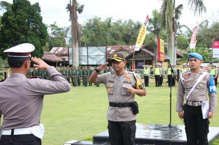 Polres Lambar Gelar Apel Pasukan Operasi Keselamatan Krakatau