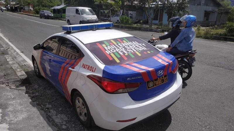 Polres Lampung Barat Gencar Sosialisasikan Millenial Road Safety