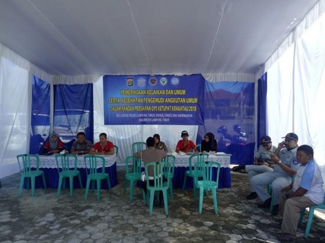Polres Lampung Timur Gelar Razia Kelayakan Kendaraan Umum