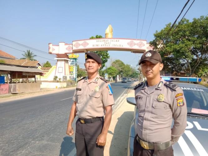 Polres Pesawaran Giat Patroli di Sepanjang Jalan Lintas Barat