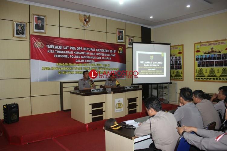 Polres Tanggamus Gelar Latihan Pra Ops Ketupat Krakatau 2018