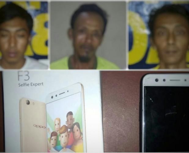 Polsek Seputihbanyak Tangkap Pencuri dan Penadah Ponsel