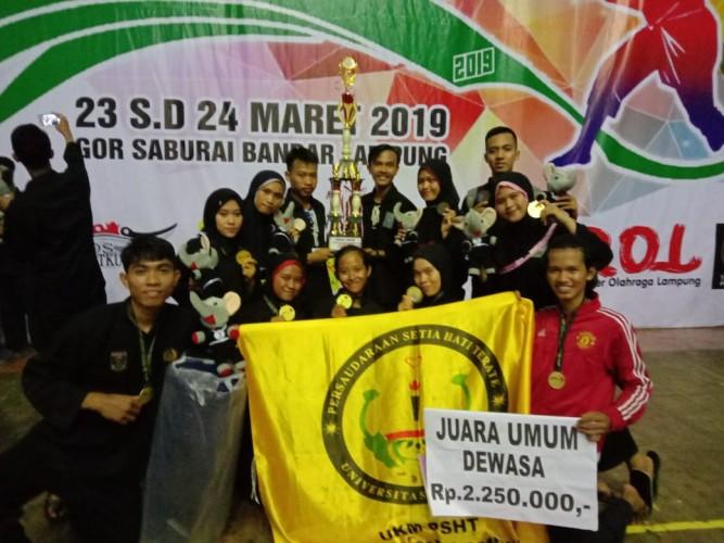 PSHT Unila Juara Umum Lampung Championship 3