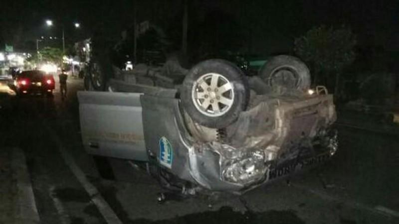 Pulang Antar Jenazah, Ambulans RSUDAM Kecelakaan