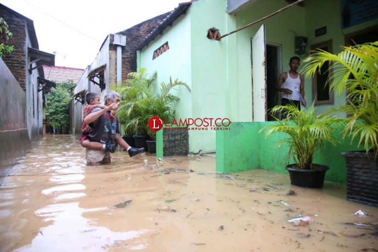 Puluhan Rumah di Kedamaian Terendam Banjir