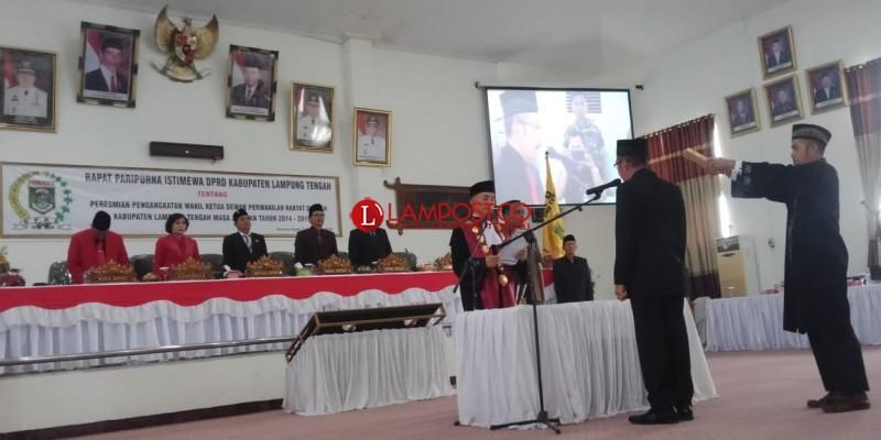 Raden Zugiri Resmi Jabat Wakil Ketua DPRD Lamteng