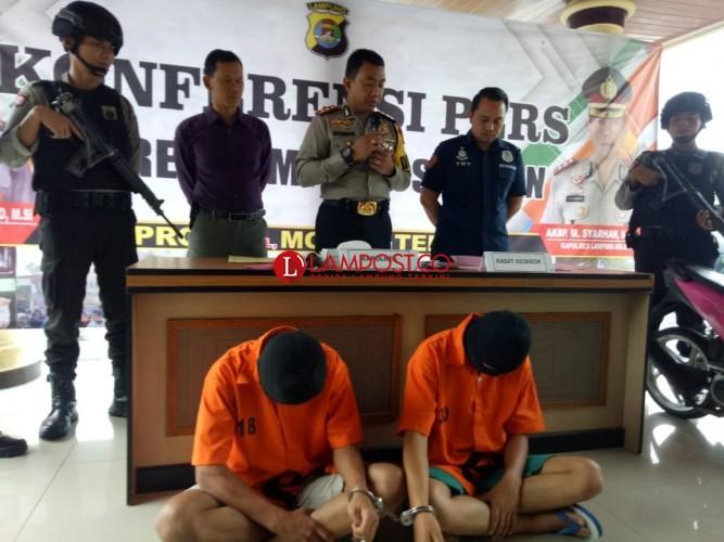 Rampas Motor Pakai Golok, Dua Pelajar di Lamsel Ditangkap