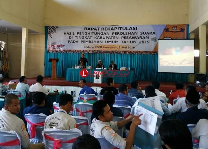 Rapat Pleno KPU Pesawaran Ditargetkan Rampung Hari Ini