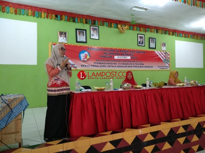 Ratusan Guru SD Kemiling Ikuti Sosialiasi Kurikulum 2013