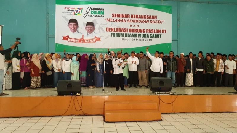 Ratusan Ulama Muda Garut Deklarasi dan Dukung Jokowi-Ma'ruf Amin