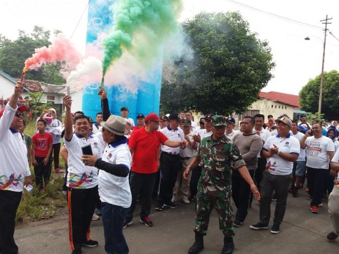 Ratusan Warga Lamteng Ikuti Pemilu Run KPU