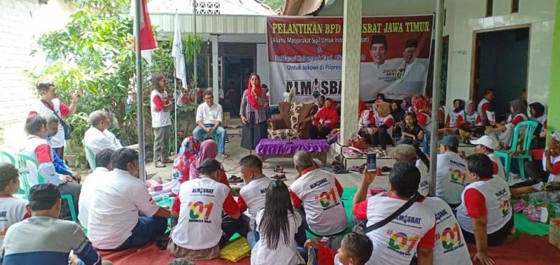 Relawan Almisbat Deklarasi Dukungan ke Capres Jkw-KMA di Kediri